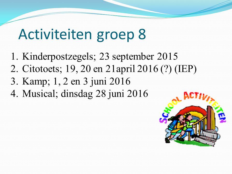 Activiteiten groep 8 Kinderpostzegels; 23 september 2015
