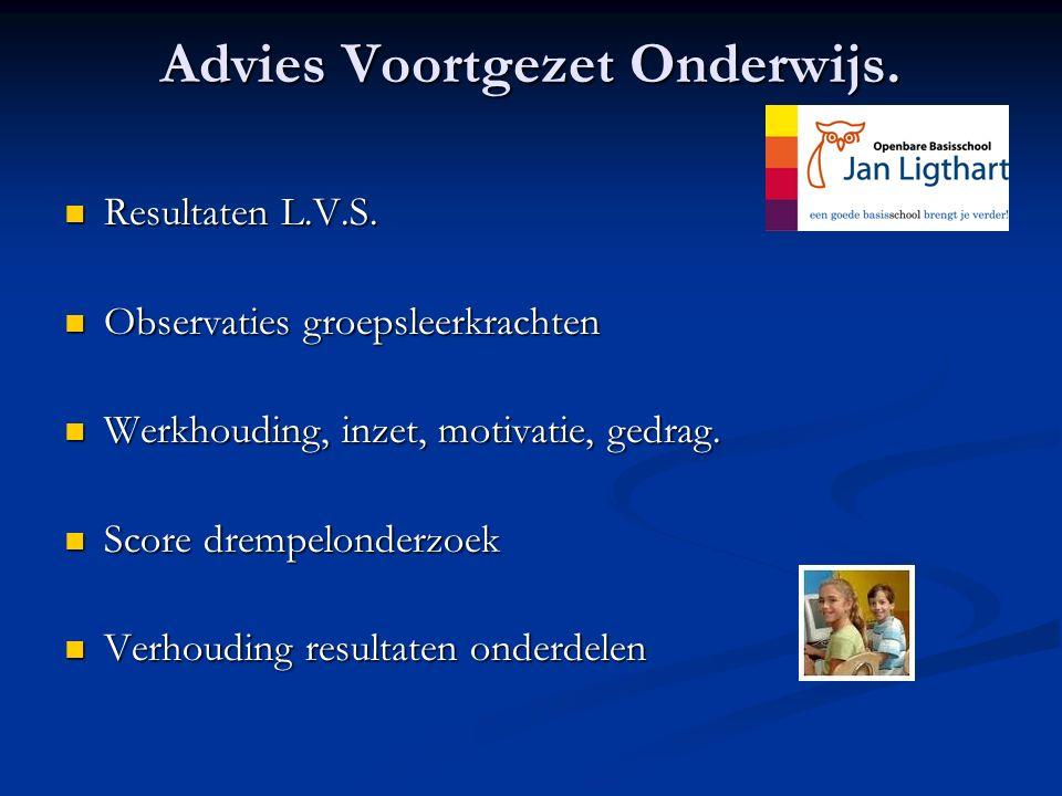 Advies Voortgezet Onderwijs.