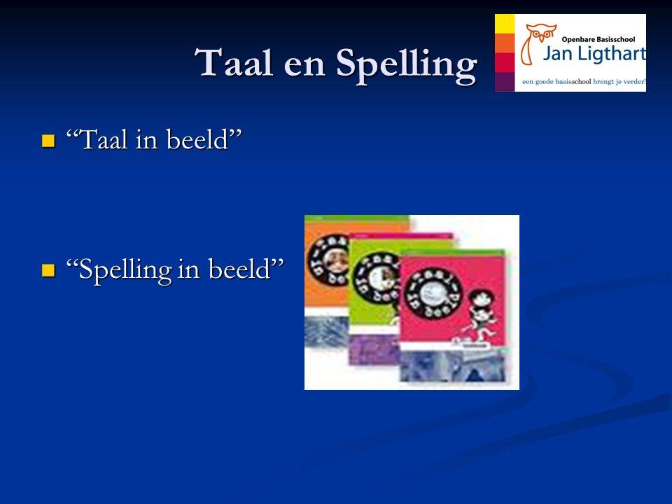 Taal en Spelling Taal in beeld Spelling in beeld