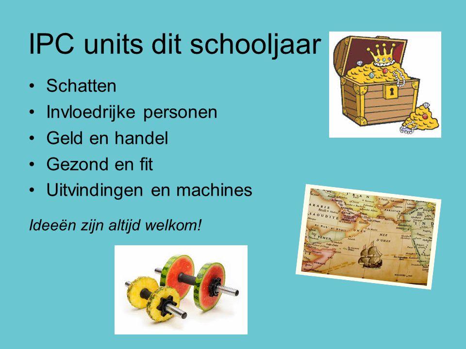 IPC units dit schooljaar