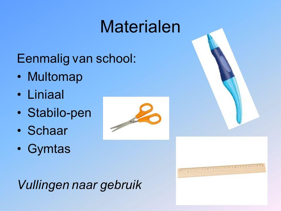 Materialen Eenmalig van school: Multomap Liniaal Stabilo-pen Schaar