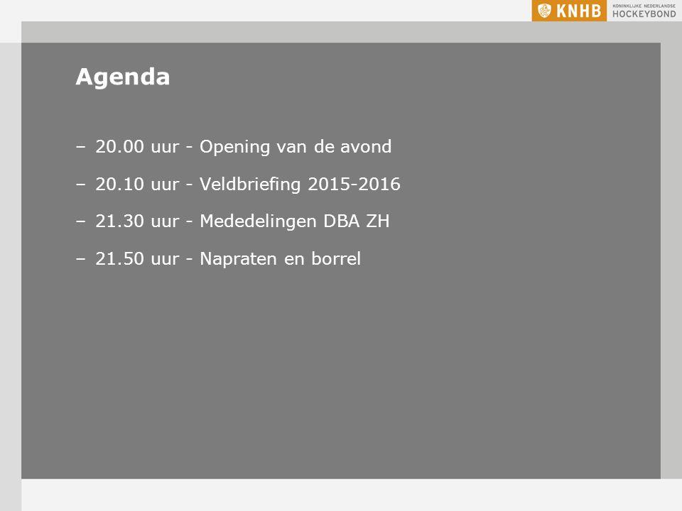 Agenda 20.00 uur - Opening van de avond