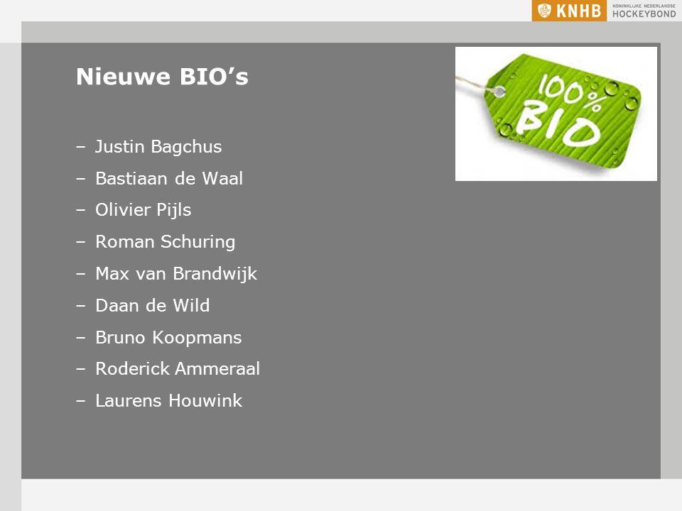 Nieuwe BIO's Justin Bagchus Bastiaan de Waal Olivier Pijls