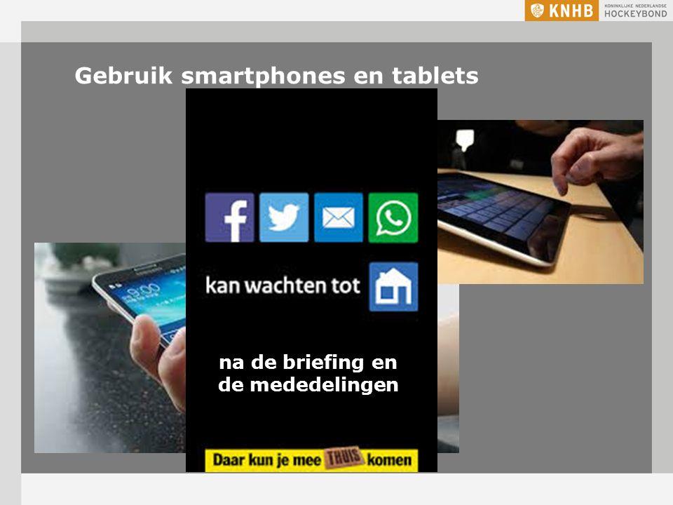 Gebruik smartphones en tablets