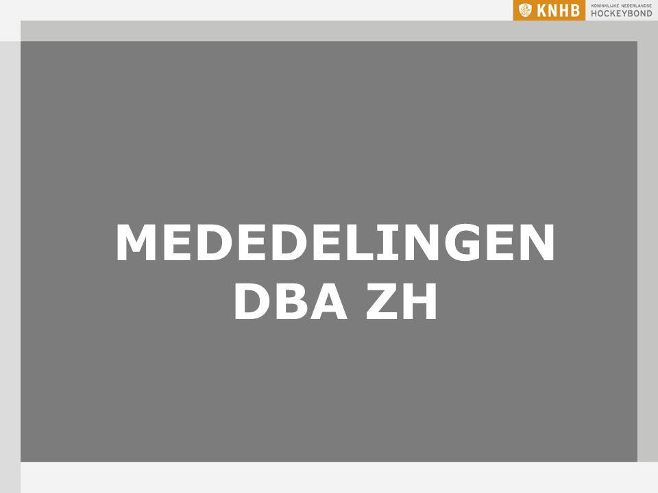 MEDEDELINGEN DBA ZH