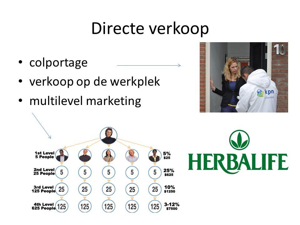 Directe verkoop colportage verkoop op de werkplek multilevel marketing