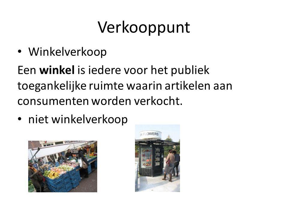 Verkooppunt Winkelverkoop