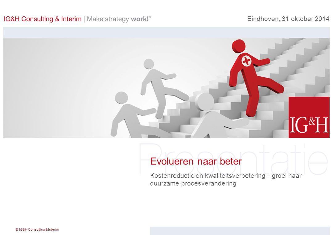 Evolueren naar beter Eindhoven, 31 oktober 2014