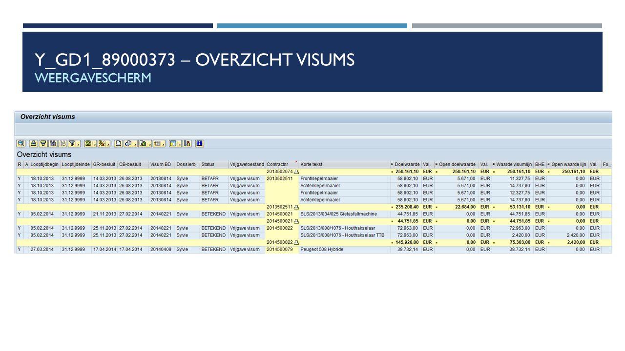 Y_GD1_89000373 – Overzicht visums weergavescherm