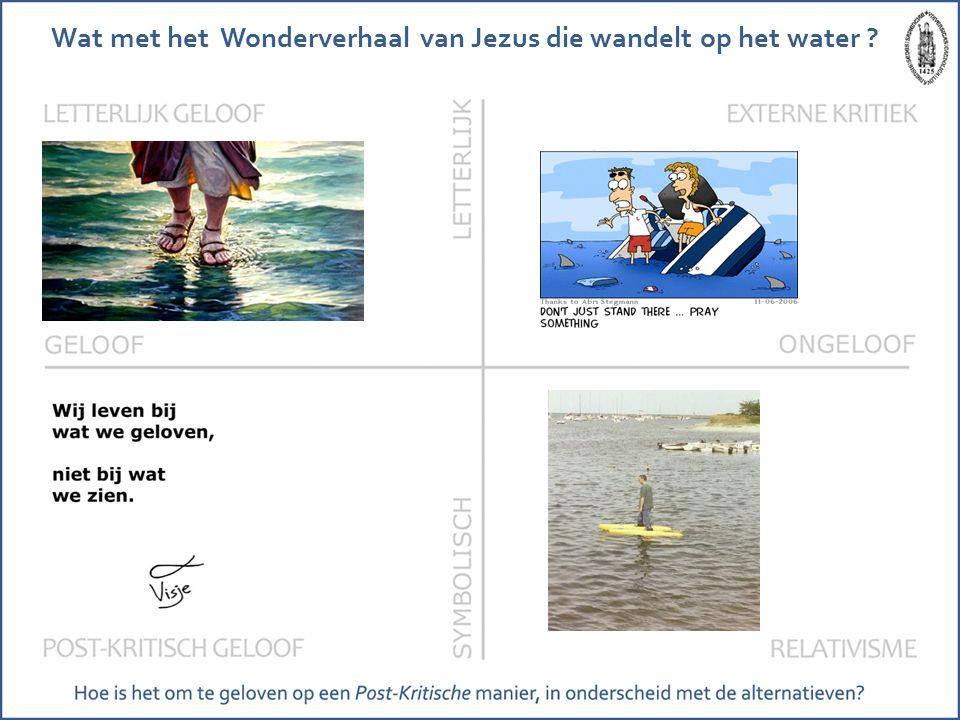 Wat met het Wonderverhaal van Jezus die wandelt op het water