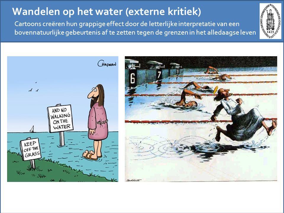 Wandelen op het water (externe kritiek)
