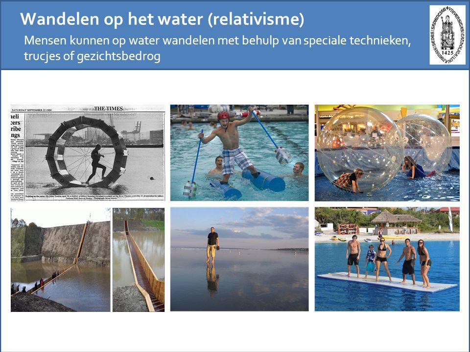Wandelen op het water (relativisme)