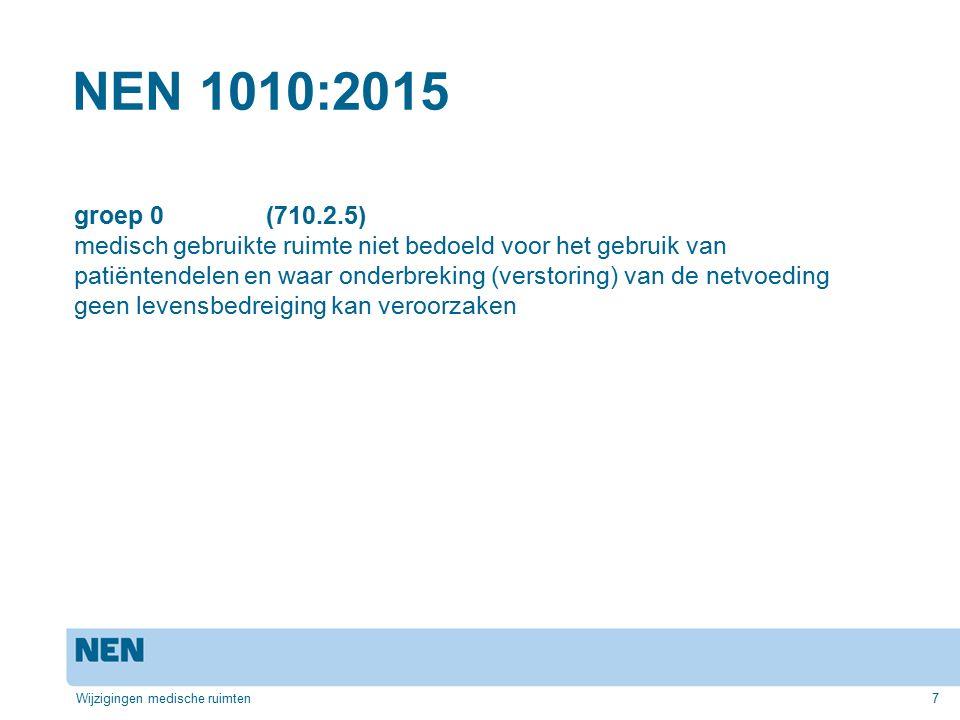 NEN 1010:2015 groep 0 (710.2.5)