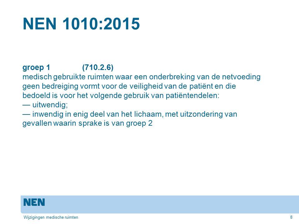 NEN 1010:2015 groep 1 (710.2.6)