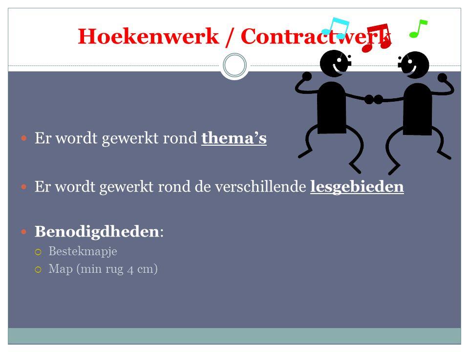 Hoekenwerk / Contractwerk