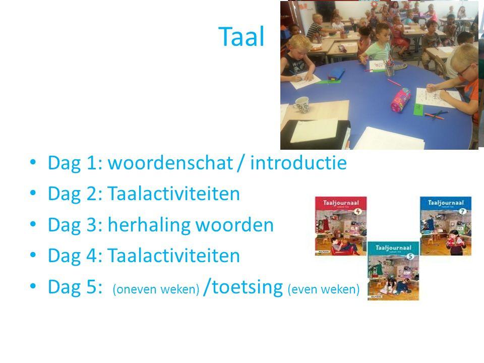 Taal Dag 1: woordenschat / introductie Dag 2: Taalactiviteiten
