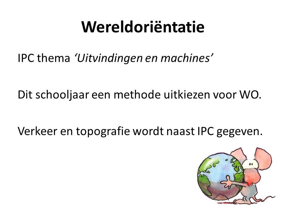 Wereldoriëntatie IPC thema 'Uitvindingen en machines' Dit schooljaar een methode uitkiezen voor WO.