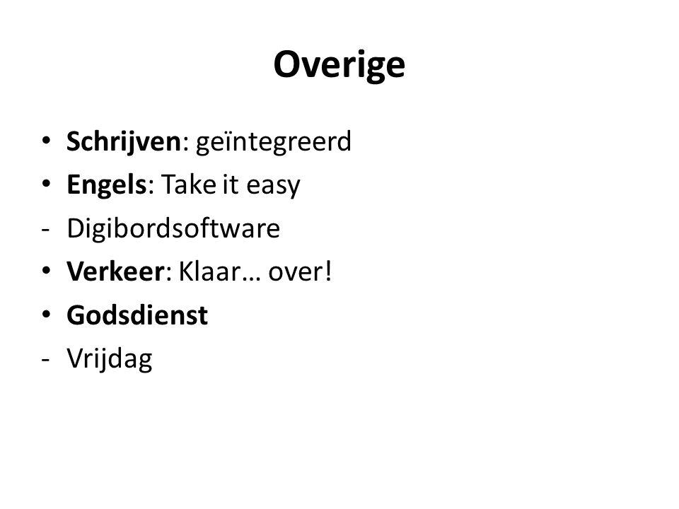 Overige Schrijven: geïntegreerd Engels: Take it easy Digibordsoftware
