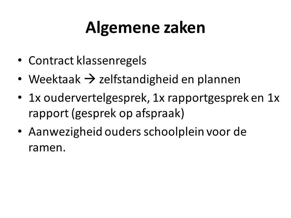 Algemene zaken Contract klassenregels