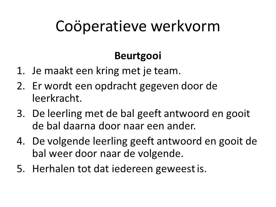 Coöperatieve werkvorm