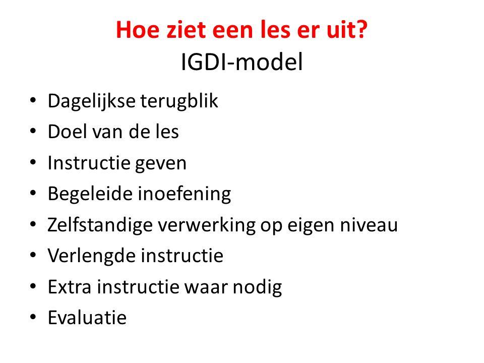 Hoe ziet een les er uit IGDI-model
