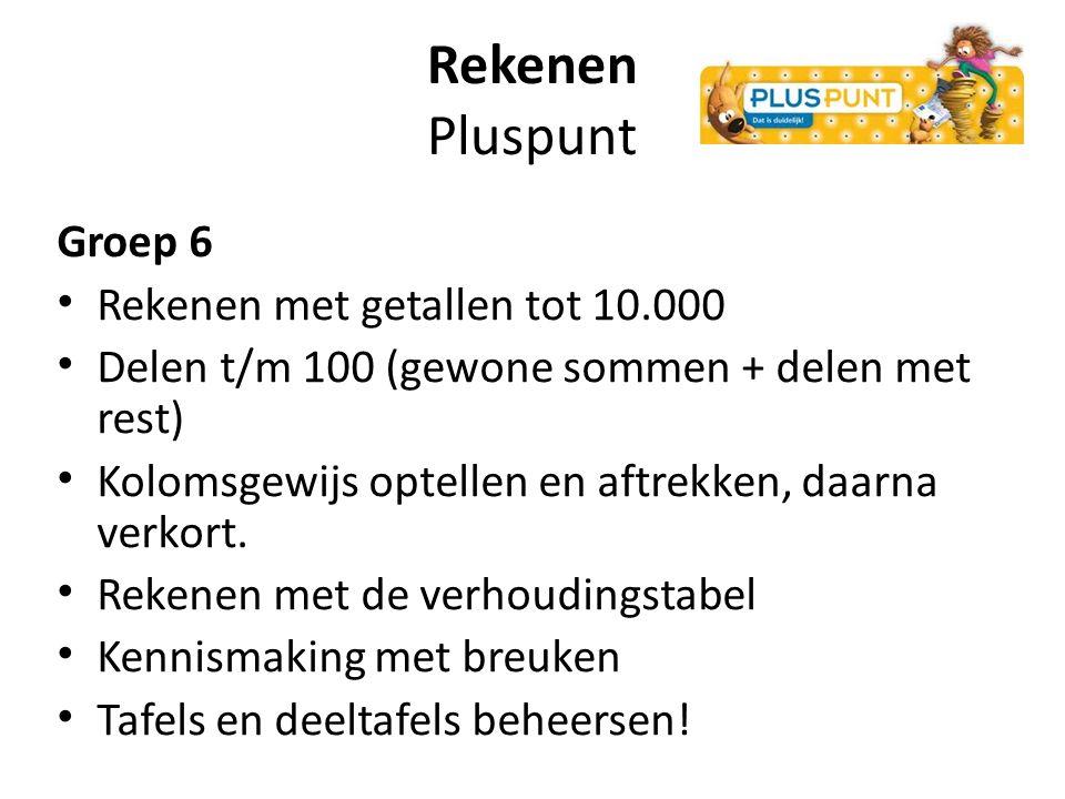 Rekenen Pluspunt Groep 6 Rekenen met getallen tot 10.000