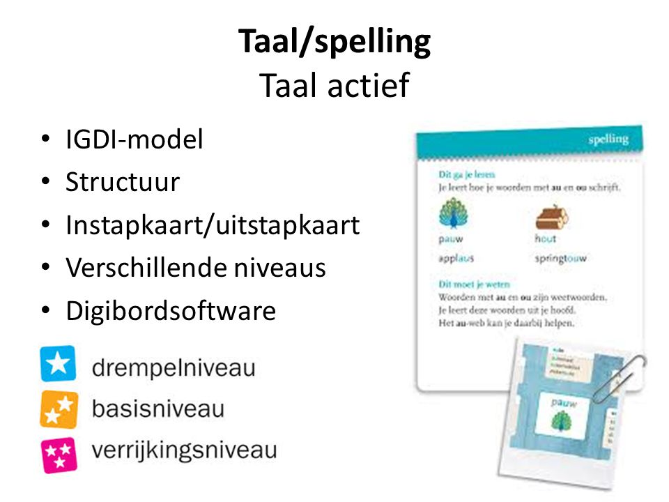 Taal/spelling Taal actief