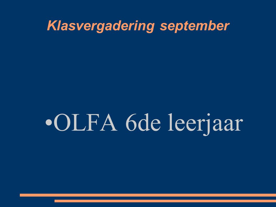 Klasvergadering september