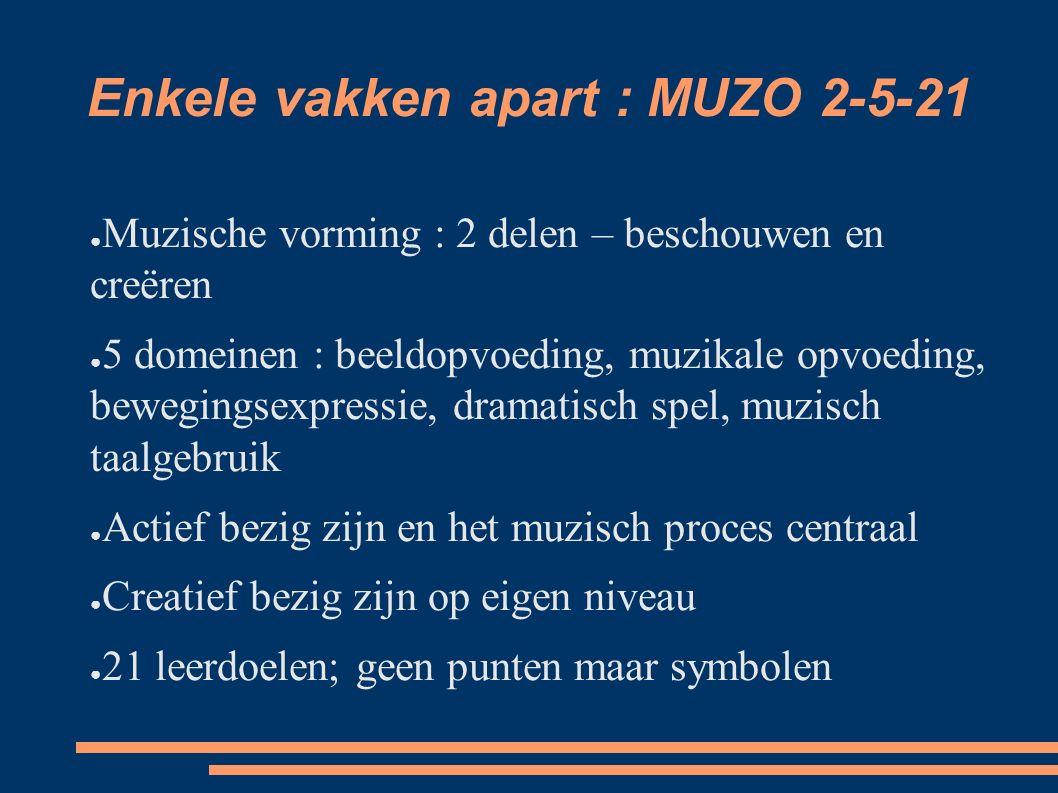Enkele vakken apart : MUZO 2-5-21
