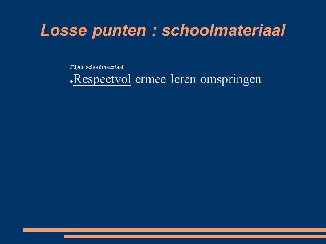 Losse punten : schoolmateriaal