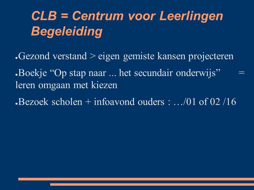 CLB = Centrum voor Leerlingen Begeleiding