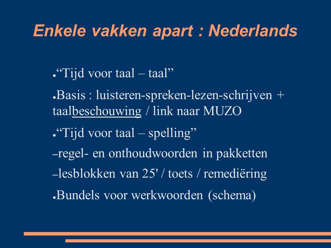 Enkele vakken apart : Nederlands
