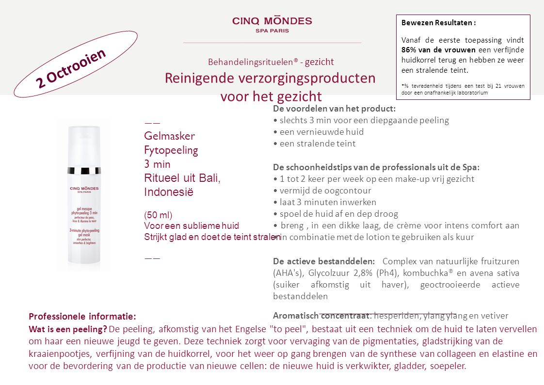 Reinigende verzorgingsproducten voor het gezicht