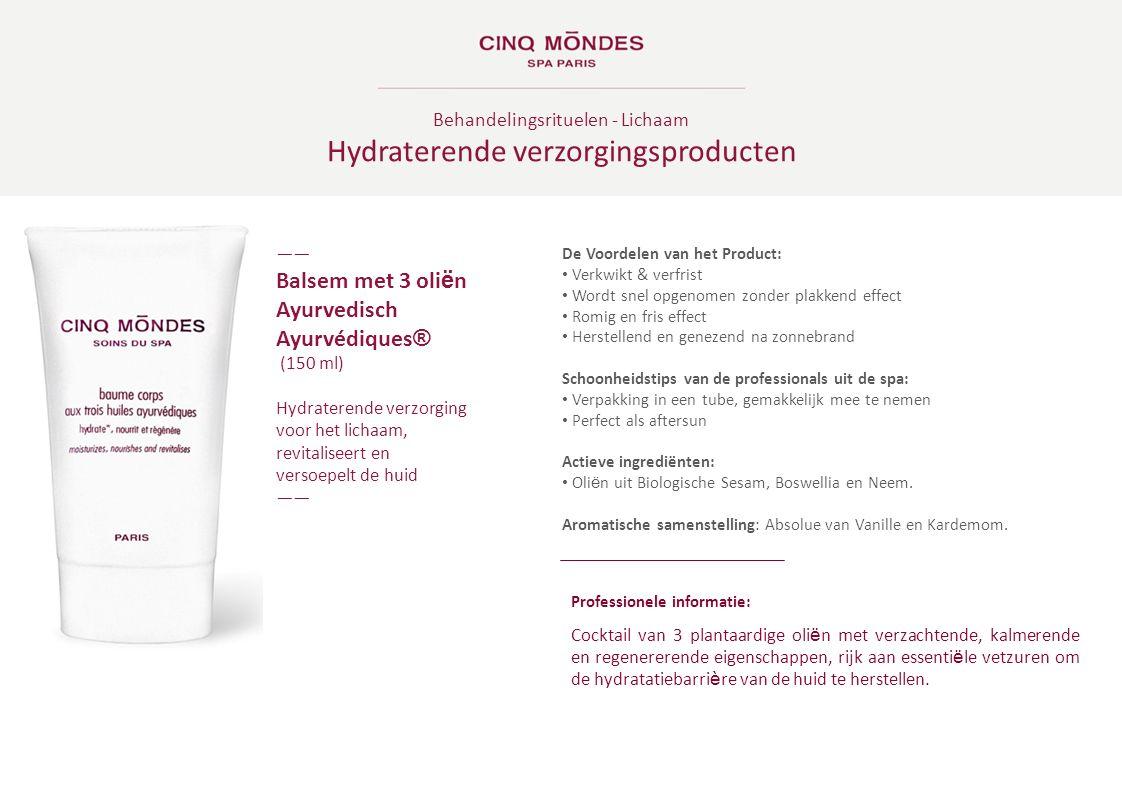 Hydraterende verzorgingsproducten