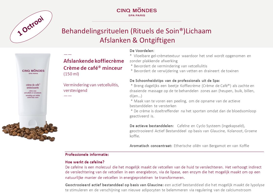 Behandelingsrituelen (Rituels de Soin®)Lichaam Afslanken & Ontgiftigen