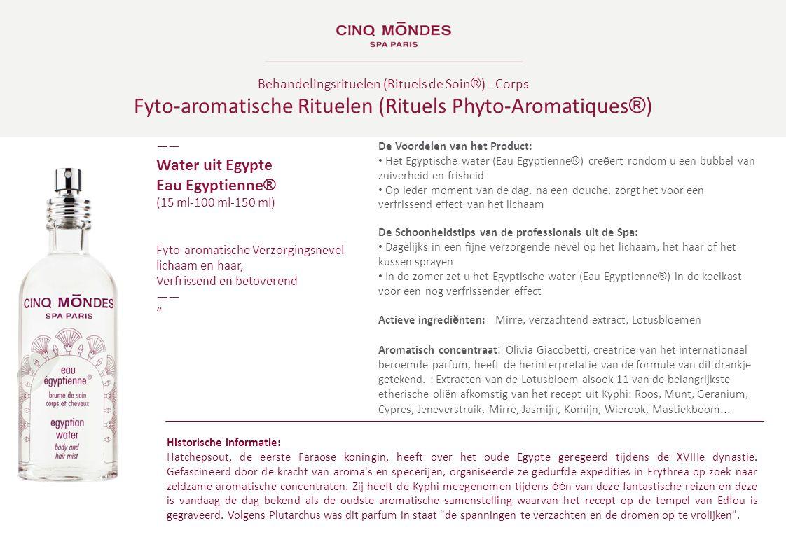 Fyto-aromatische Rituelen (Rituels Phyto-Aromatiques®)