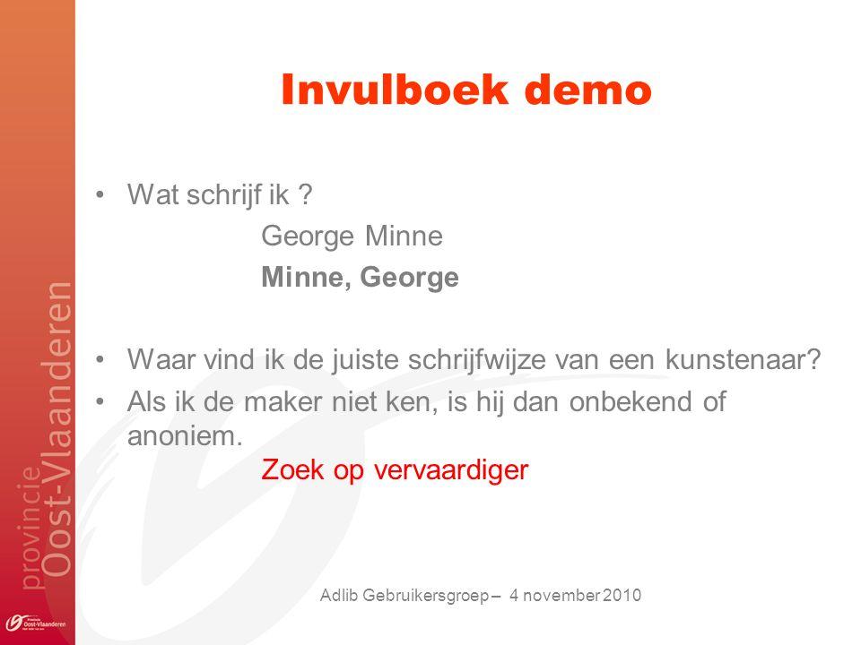 Adlib Gebruikersgroep – 4 november 2010