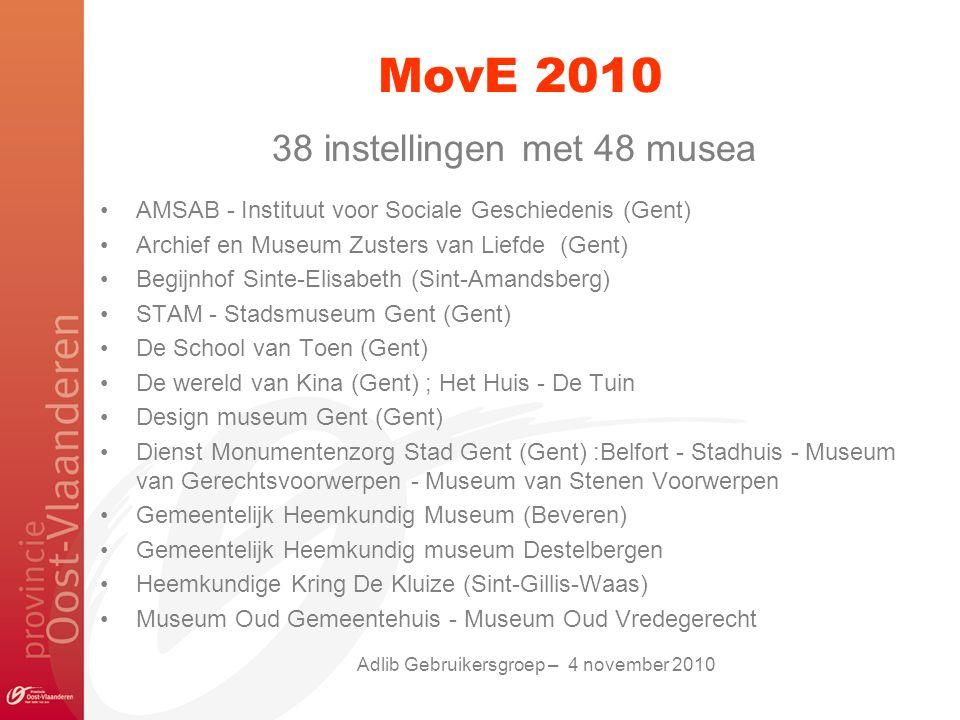 MovE 2010 38 instellingen met 48 musea