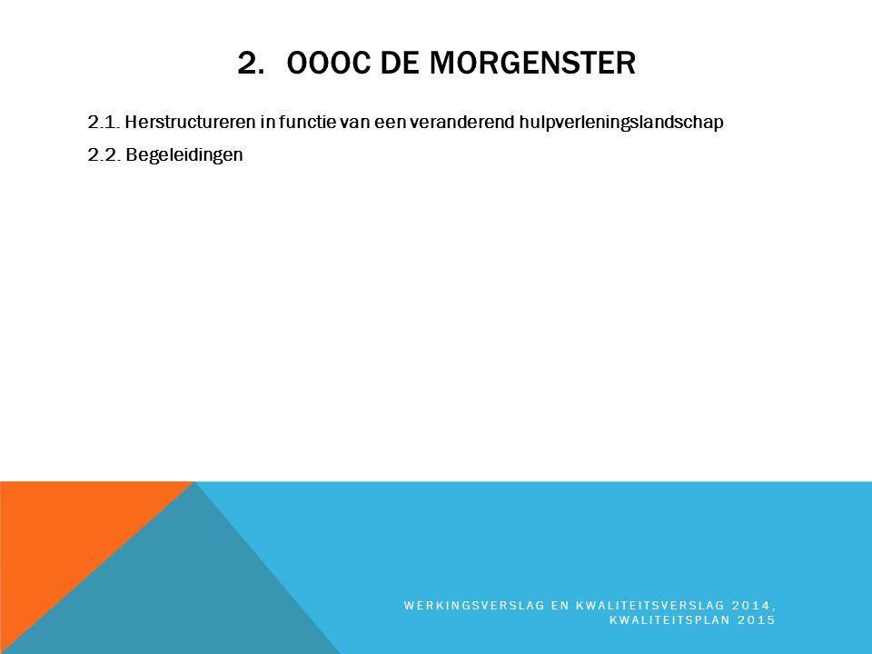 OOOC De Morgenster 2.1. Herstructureren in functie van een veranderend hulpverleningslandschap 2.2. Begeleidingen