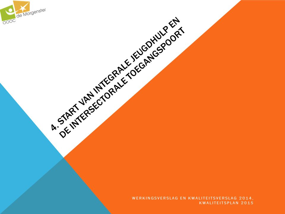 4. Start van Integrale Jeugdhulp en De Intersectorale Toegangspoort
