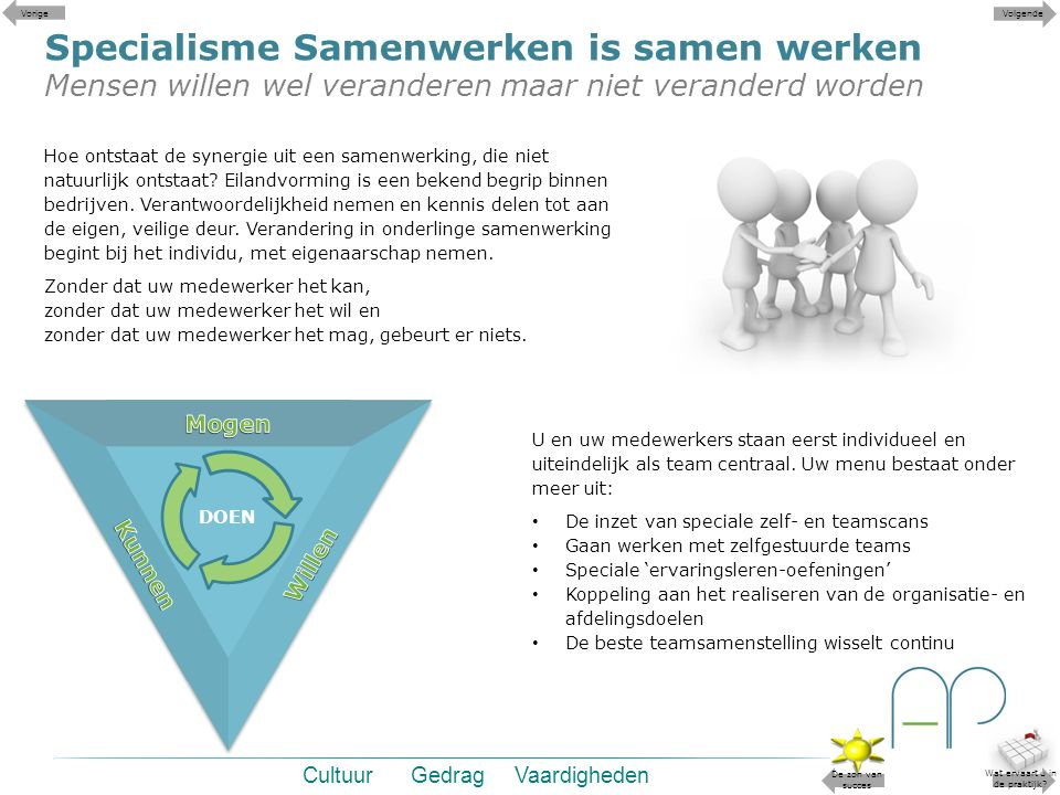 Specialisme Samenwerken is samen werken