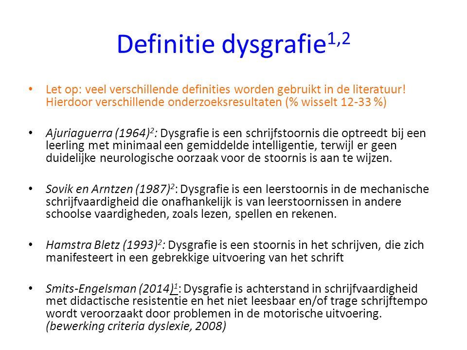 Definitie dysgrafie1,2