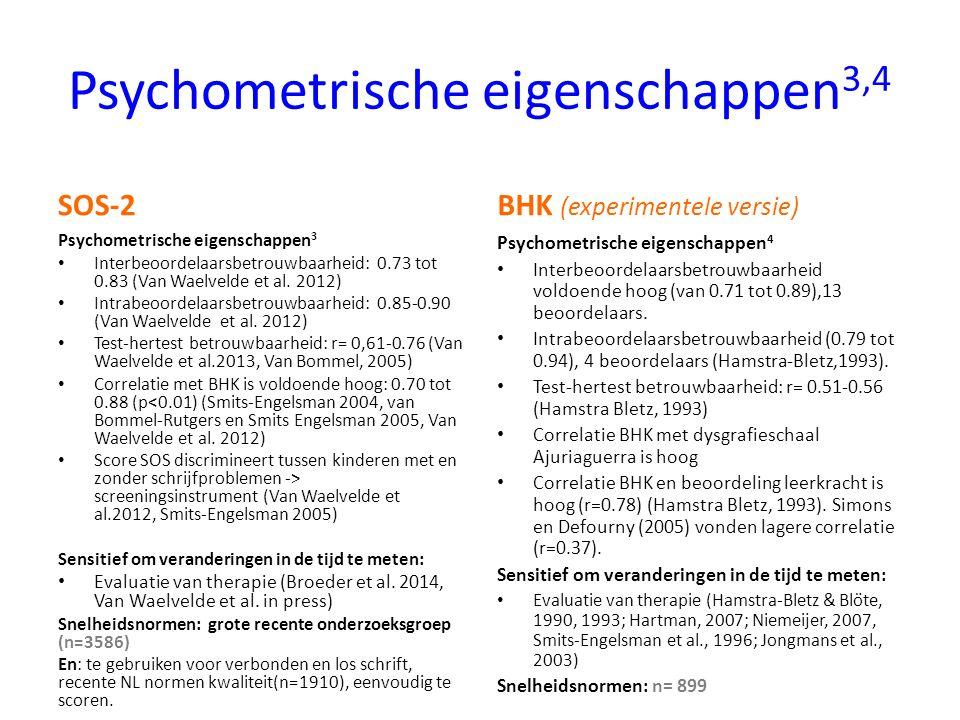 Psychometrische eigenschappen3,4