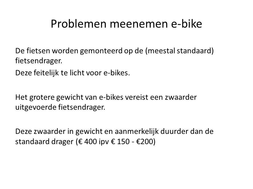 Problemen meenemen e-bike