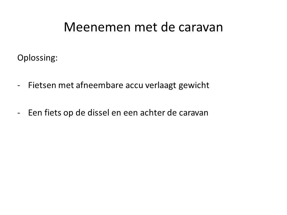 Meenemen met de caravan