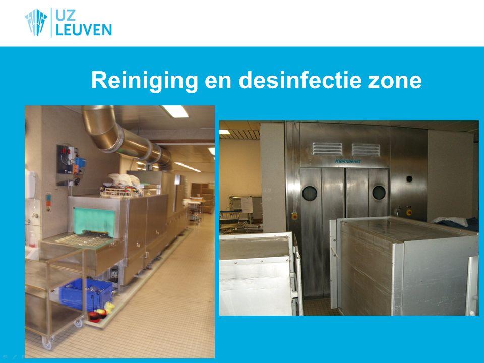 Reiniging en desinfectie zone