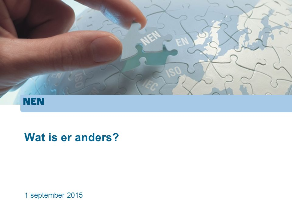 Wat is er anders 1 september 2015