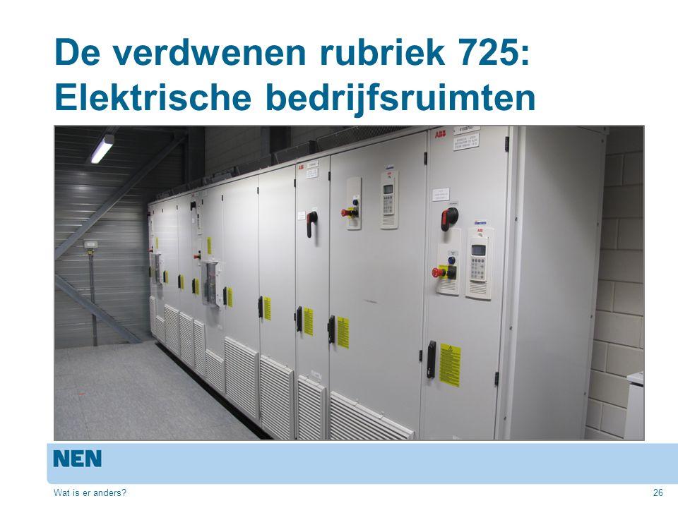 De verdwenen rubriek 725: Elektrische bedrijfsruimten