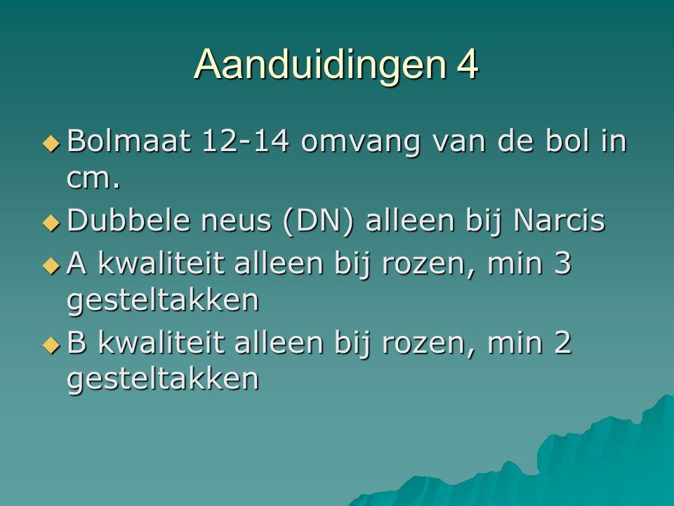 Aanduidingen 4 Bolmaat 12-14 omvang van de bol in cm.