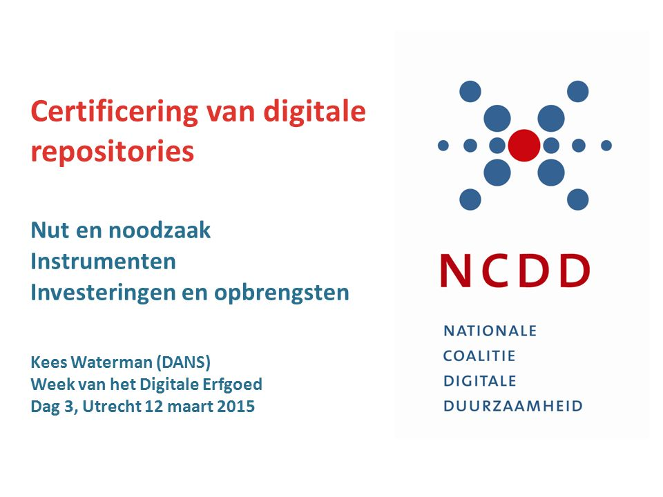 Certificering van digitale repositories